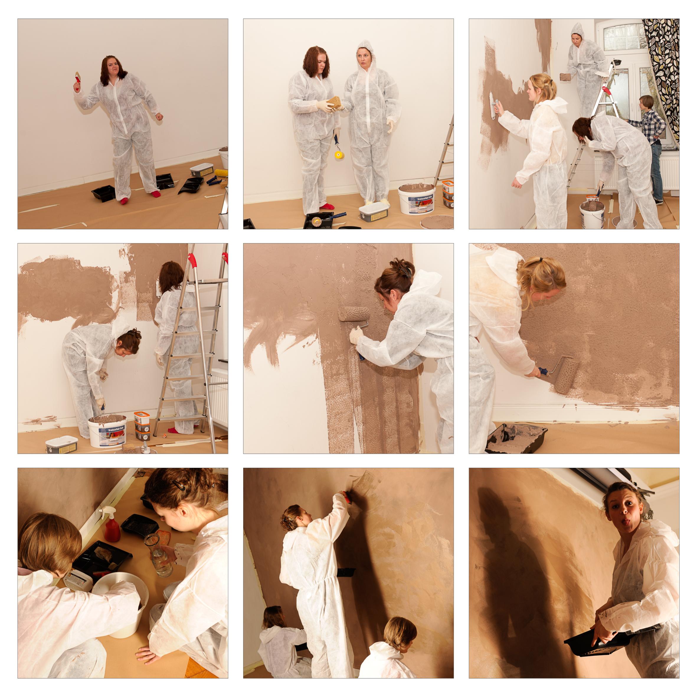 ... wie unsere Gold-Braune Wand entstanden ist...
